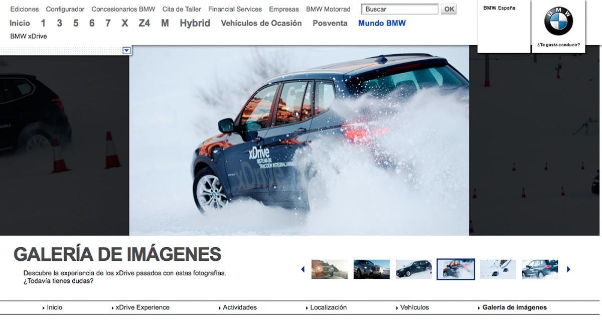 Fotgrafo publicidad bmw xdrive sierra nevada