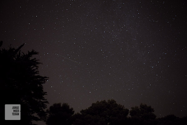 como fotografiar la lluvia de estrellas perseidas