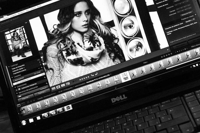 Making off sesión fotografía moda para catálogo primavera 2013 Vero Moda