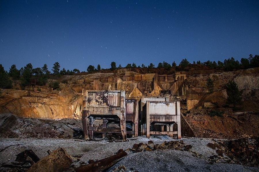 Autoria fotografos en minas de rio tinto