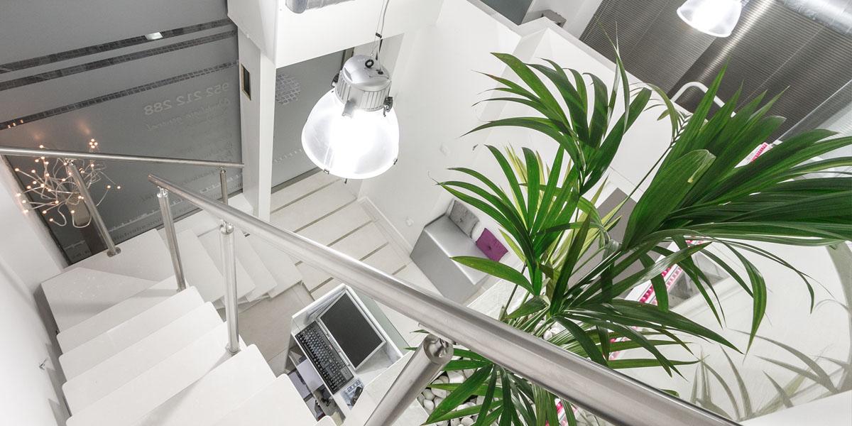 Fotografia arquitectura e interiores de clinica dental Biznaga