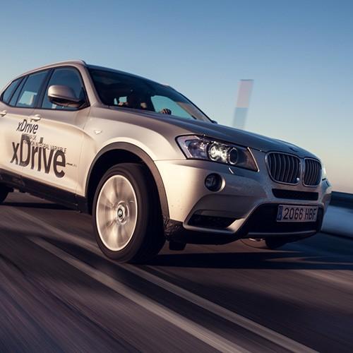 Fotografía publicitaria de evento BMW xDrive en Sierra Nevada