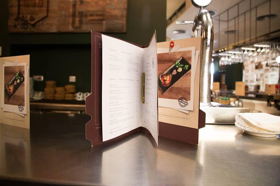folleto kgb malaga con fotografia gastronomica