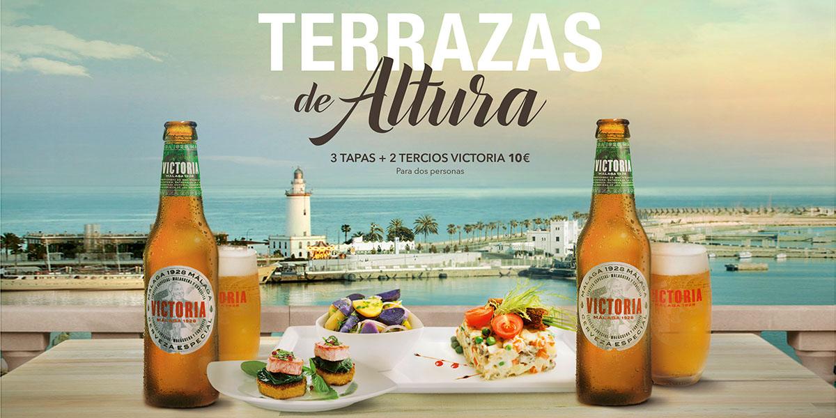 Fotografo gastronomia malaga terrazas altura cervezsas victoria