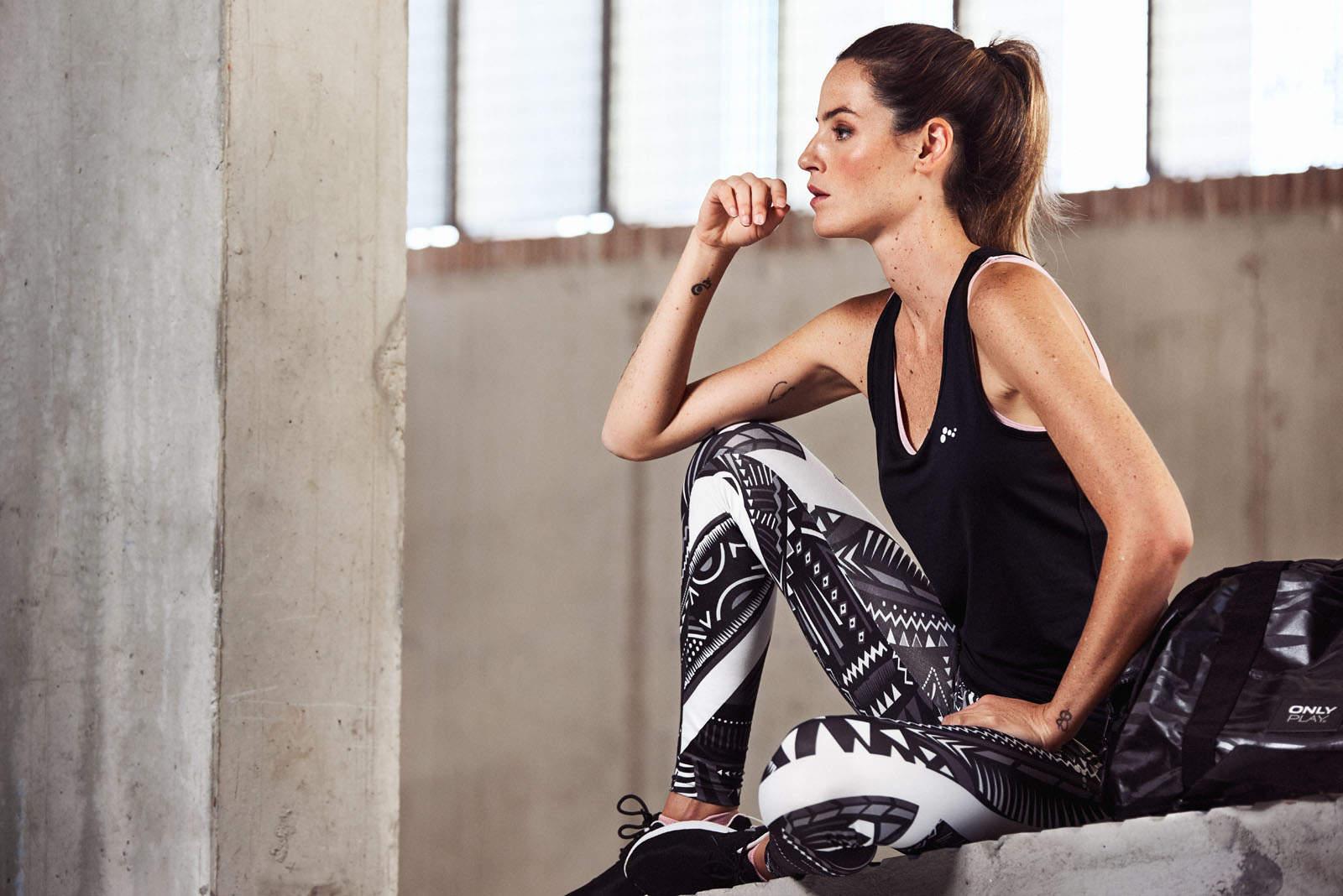 Fotografia de moda ropa deportiva ONLY Play con Aida Artiles