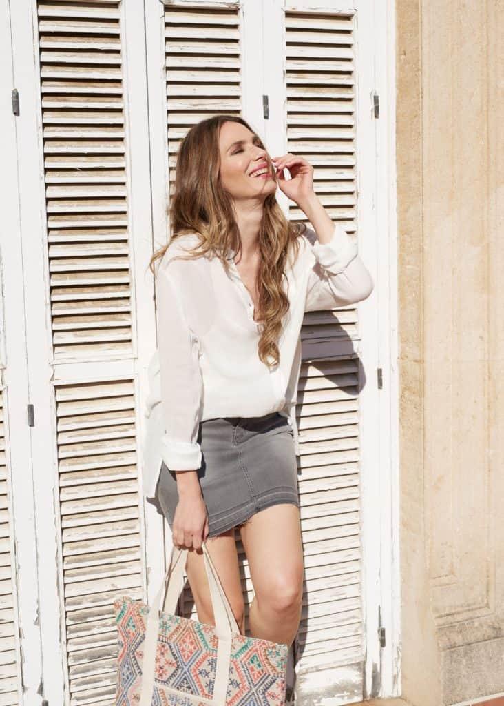 Fotografía de moda para la campaña SS17 de la firma PIECES con la actriz Vanesa Romero