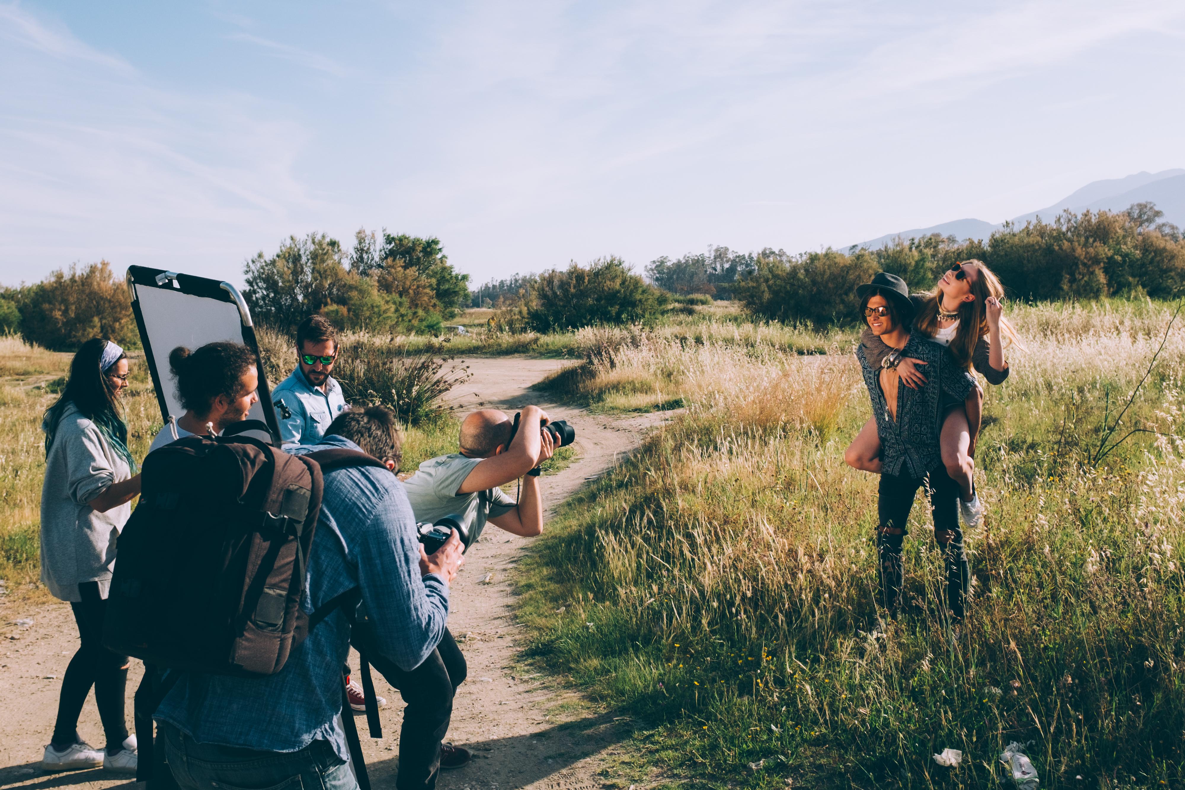 Fotografía making of de la sesión de fotos publicitaría para la campaña de verano 2017 de Soloptical en Estudio Mierterán