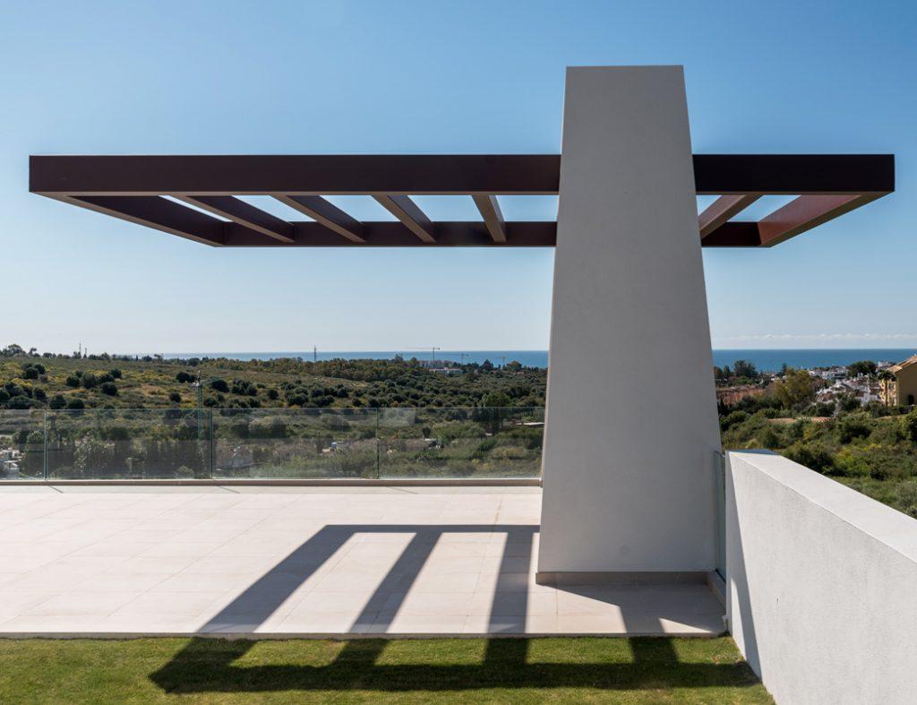 Fotograf'a de arquitectura de Flamencos 11 en Marbella para la constructora Prinza. Cliente: Narita Estudio.
